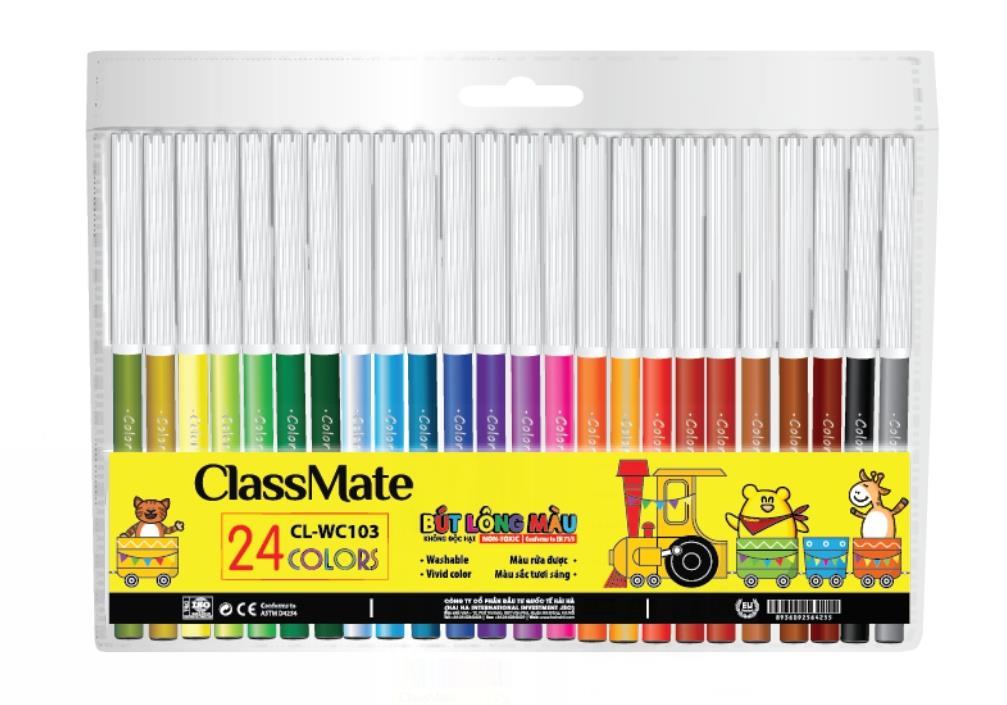 Vỉ bút lông màu(24 màu) (CL-WC103)