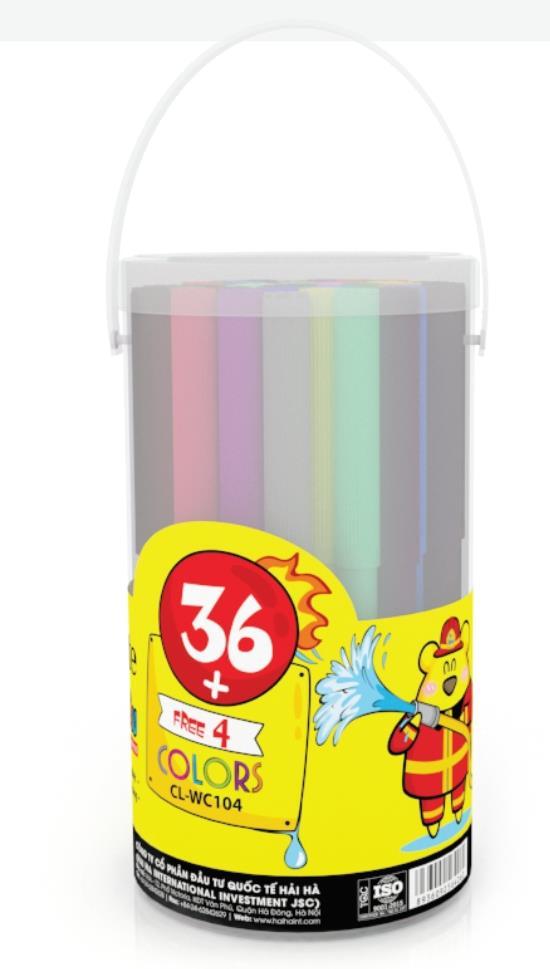 Ống bút lông màu(40 màu) (CL-WC104)