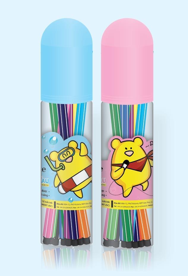Ống bút lông màu (12 màu) (CL-WC201)