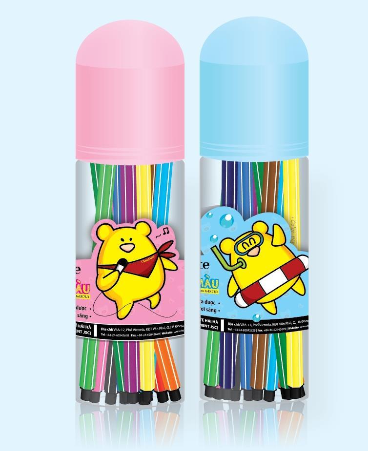 Ống bút lông màu (18 màu) (CL-WC202)