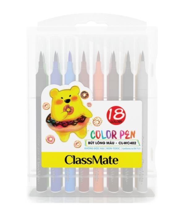 Hộp bút lông màu(18 màu) (CL-WC402)